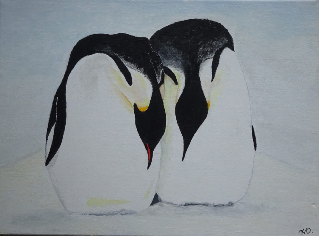 Emperor pair. Acrylic on canvas. 40 x 30 cm
