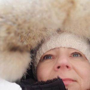 It's me, Kamilla in Greenland in snow